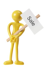 Figure with Sale Sign