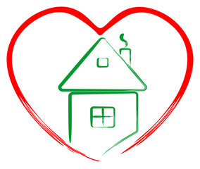 Art house in heart