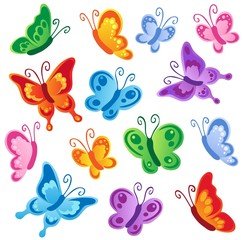 Autocollant pour porte Papillons Various butterflies collection 1