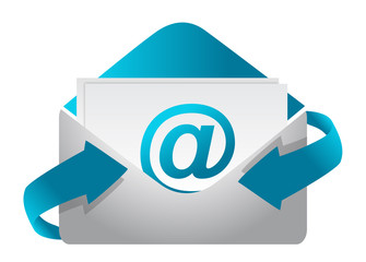 E-mail concept illustration design on a white background