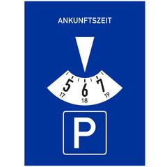 Papier Peint - Zeichen - Parkscheibe