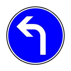 Papier Peint - Verkehrsschild - 209 vorgeschriebene Fahrtrichtung links