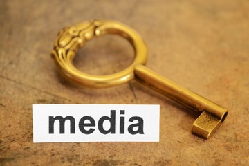media and key concept