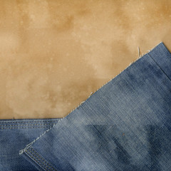 Jeans and paper.