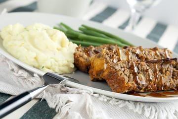Lentil Loaf Dinner