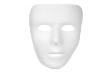 White Mask Isolated on a White Background