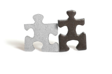 Two puzzle figures