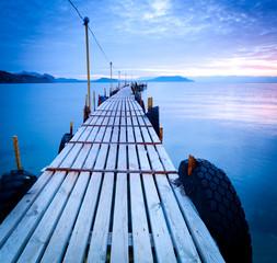 Deurstickers Pier jetty at dusk