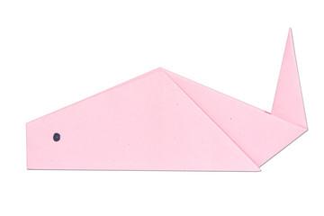 pink koi fish origami handcraft