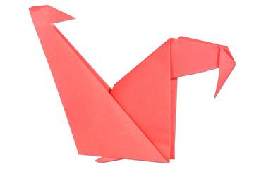 red chicken origami handcraft