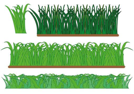 векторный рисунок зеленая трава
