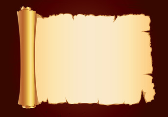 old parchment gold scroll gorizontal