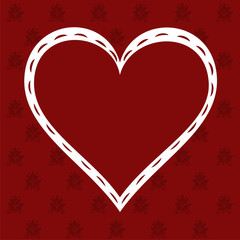 Love Heart on Valentine's background