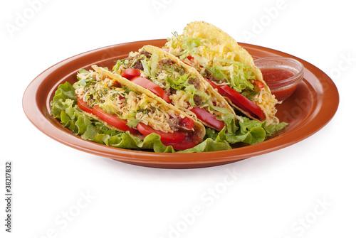Тако с салатом