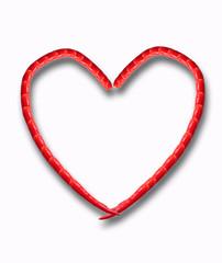 Heart of chili pepper