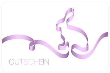 Gutschein Osterhase Schleifenband lila