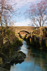 Old stone bridge over the river Duddon