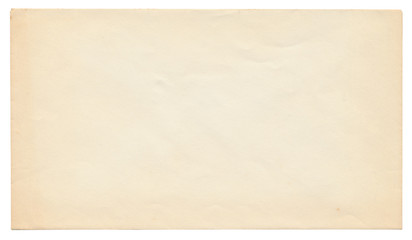 blank old envelope