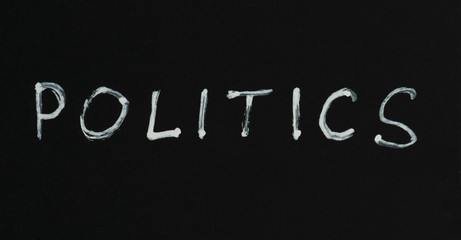 Politics text conception