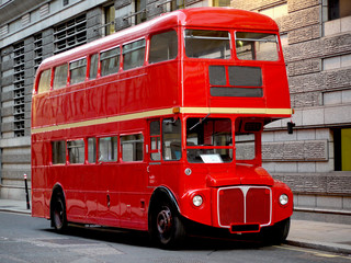 Poster London red bus London bus, traditional red