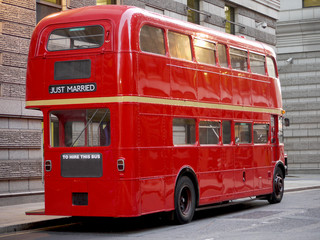 Foto op Plexiglas Londen rode bus Old fashioned London red bus