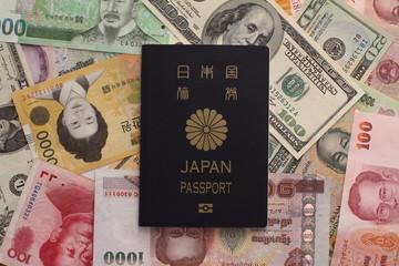 パスポートと紙幣