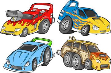Street Car Racer Vector Design Set