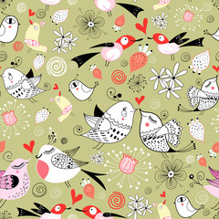 pattern of love birds