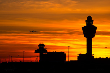 Fotobehang Luchthaven Amsterdam Schiphol airport