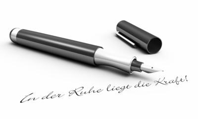In der Ruhe liegt die Kraft! - Stift Konzept