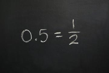 Zero Point Five Equals One Half