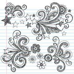 Back to School Sketchy Notebook Doodles