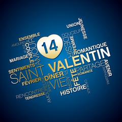 vecteur,mot image st valentin