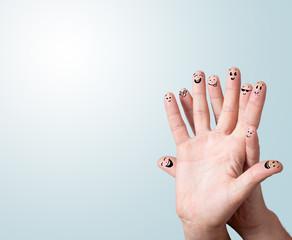 finger smileys with copyspace