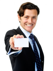 businesscard showing man