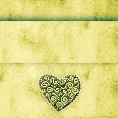 grunge  background with heart
