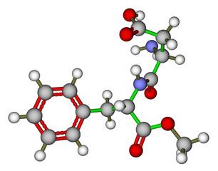 Aspartame molecular model
