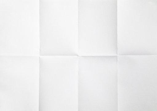 white sheet of paper folded