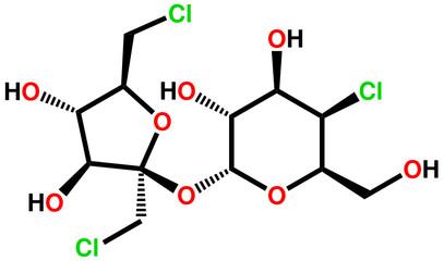 Sucralose structural formula