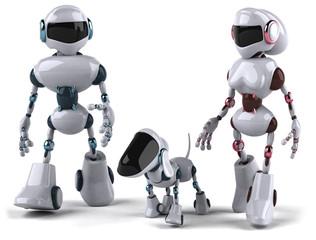 Spoed Foto op Canvas Robots Famille de robots