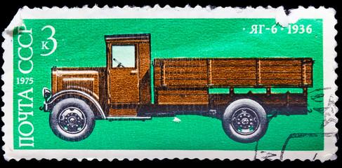 USSR - CIRCA 1975: A stamp printed USSR shows vintage soviet aut