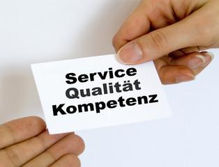 Service, Qualität,Kompetenz