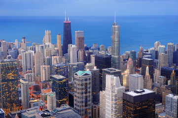 Wall Mural - Chicago aerial view