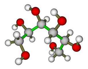 Sorbitol molecular structure