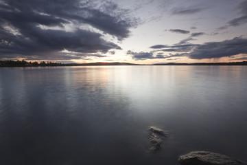 Swedish lake, sundawn