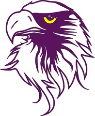 Purple Eagle Drawing