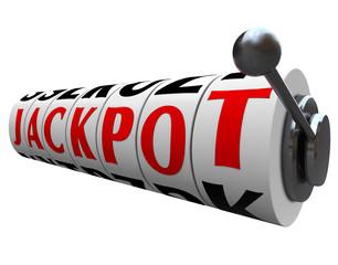 Jackpot Word Slot Machine Wheels Money Payout