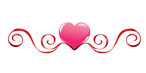 Pink heart with decoration
