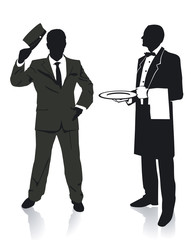 Kellner und Portier