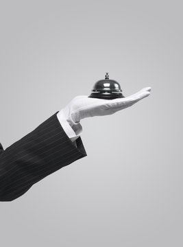 server holding service bell